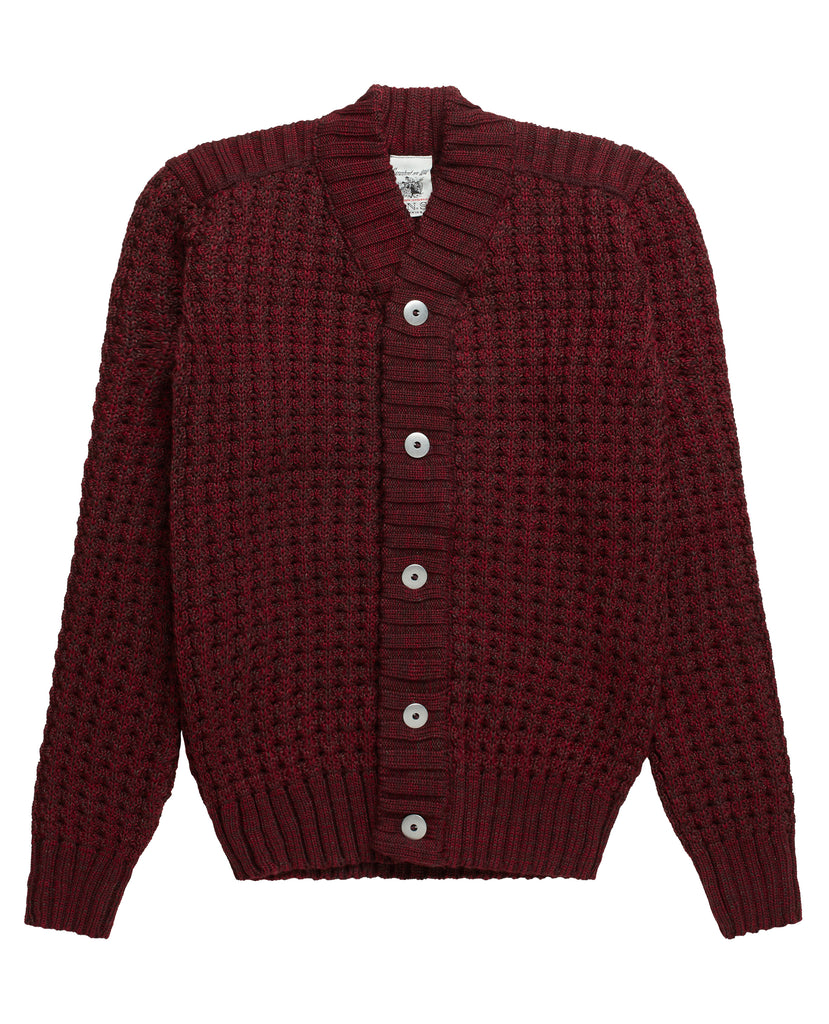 ION cardigan<br>oxblood mix