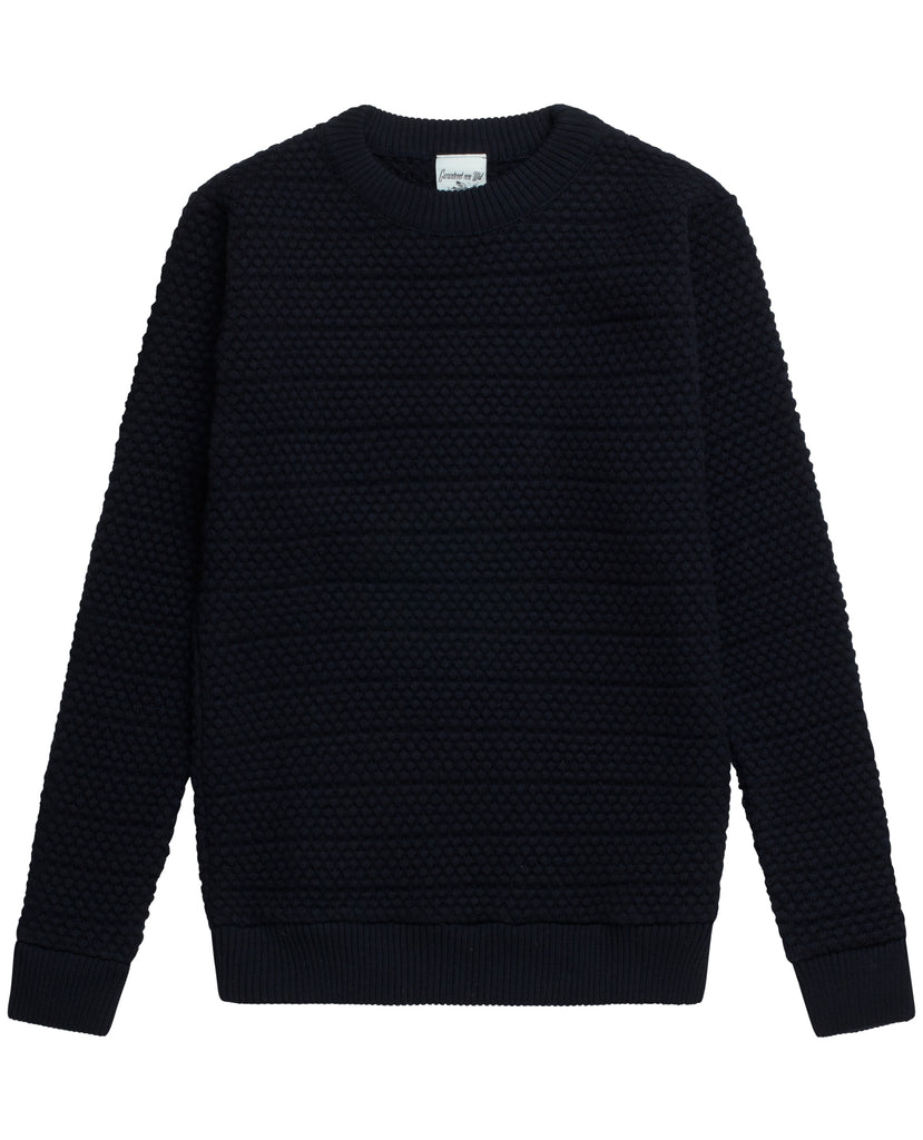AMALGAM sweater<br>navy blue