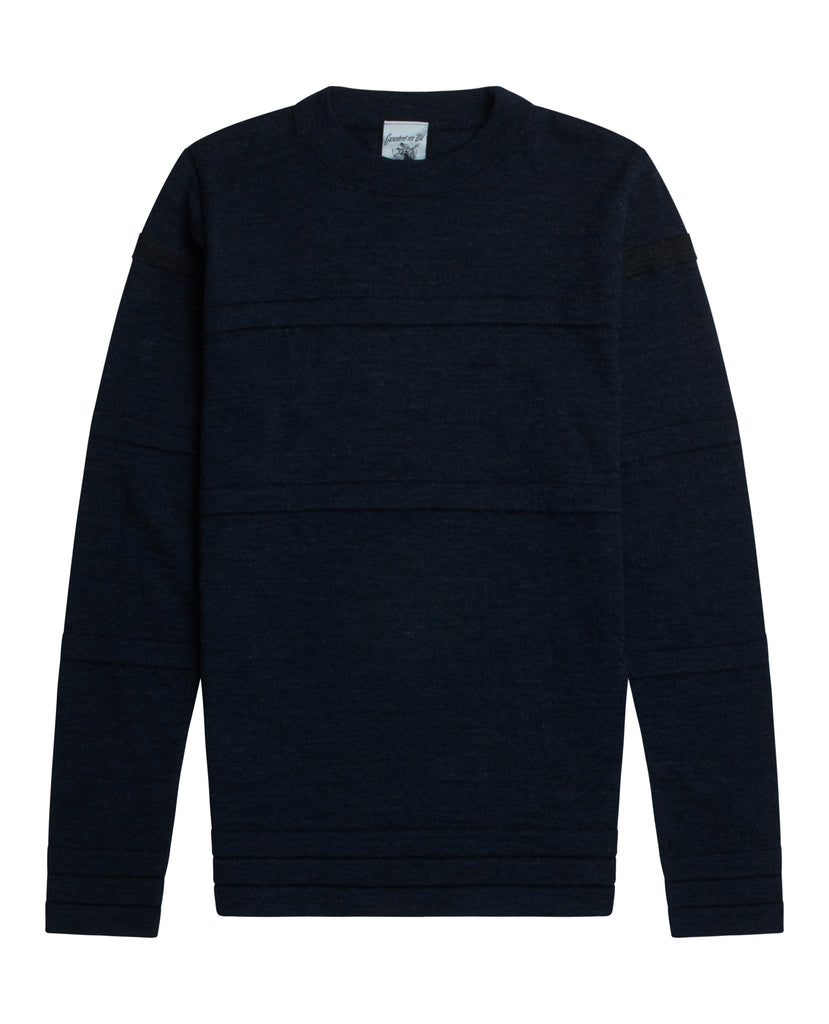 TRANSIT sweater<br>ocean blue / black melange