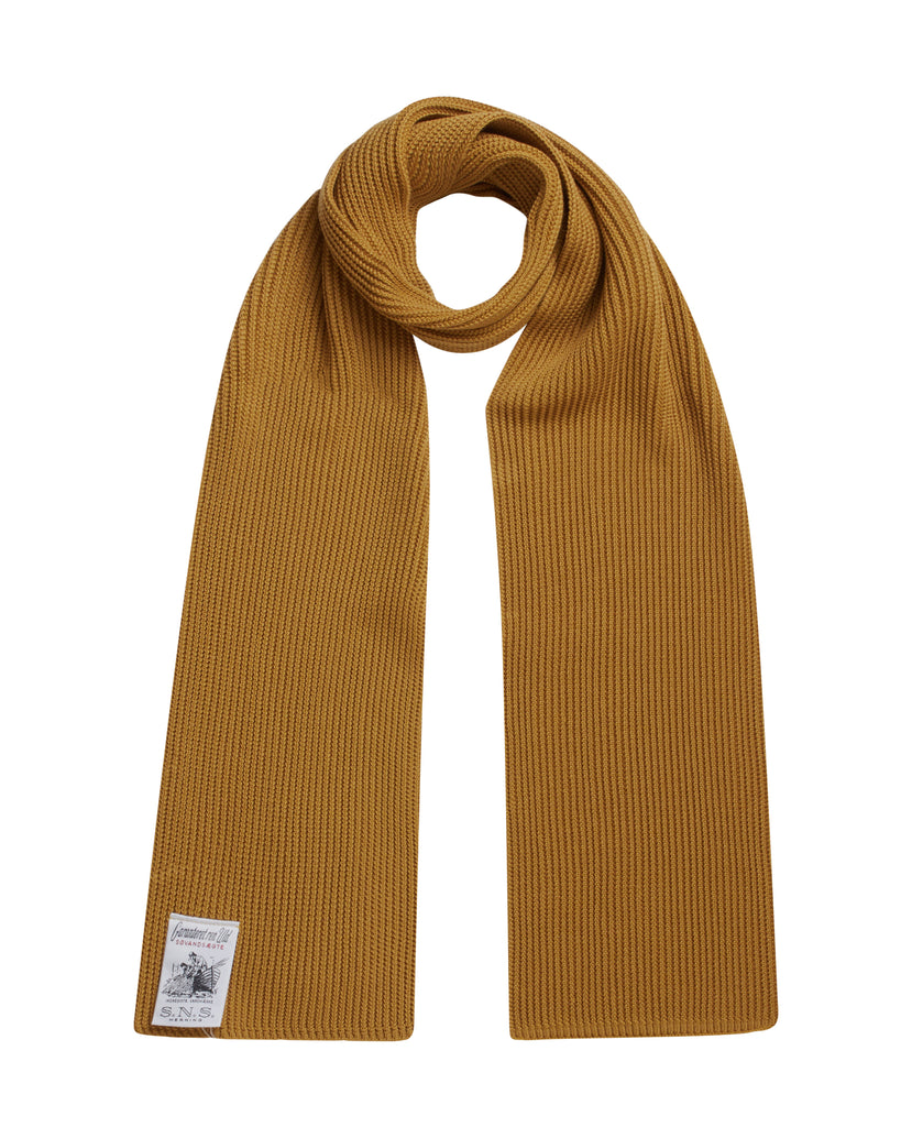 SPLIT scarf<br>curry yellow (M)
