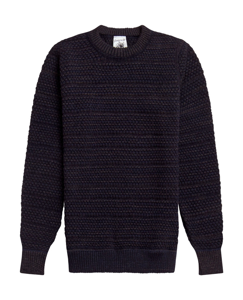 MOMENT sweater<br>navy blue mix