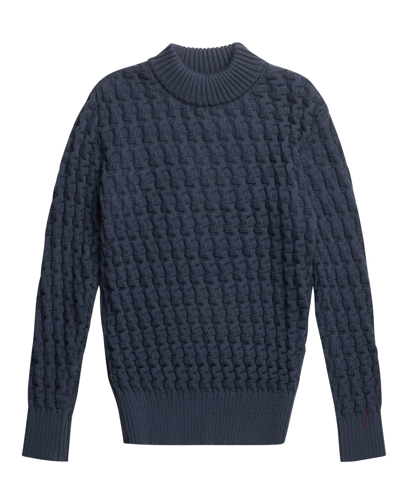 STARK sweater | høj hals<br>aviator grey