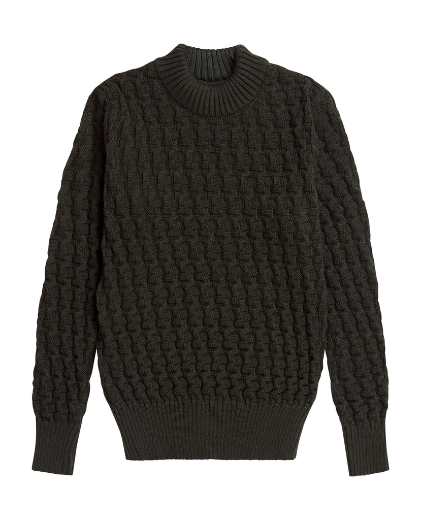 STARK sweater | høj hals<br>lacquer green