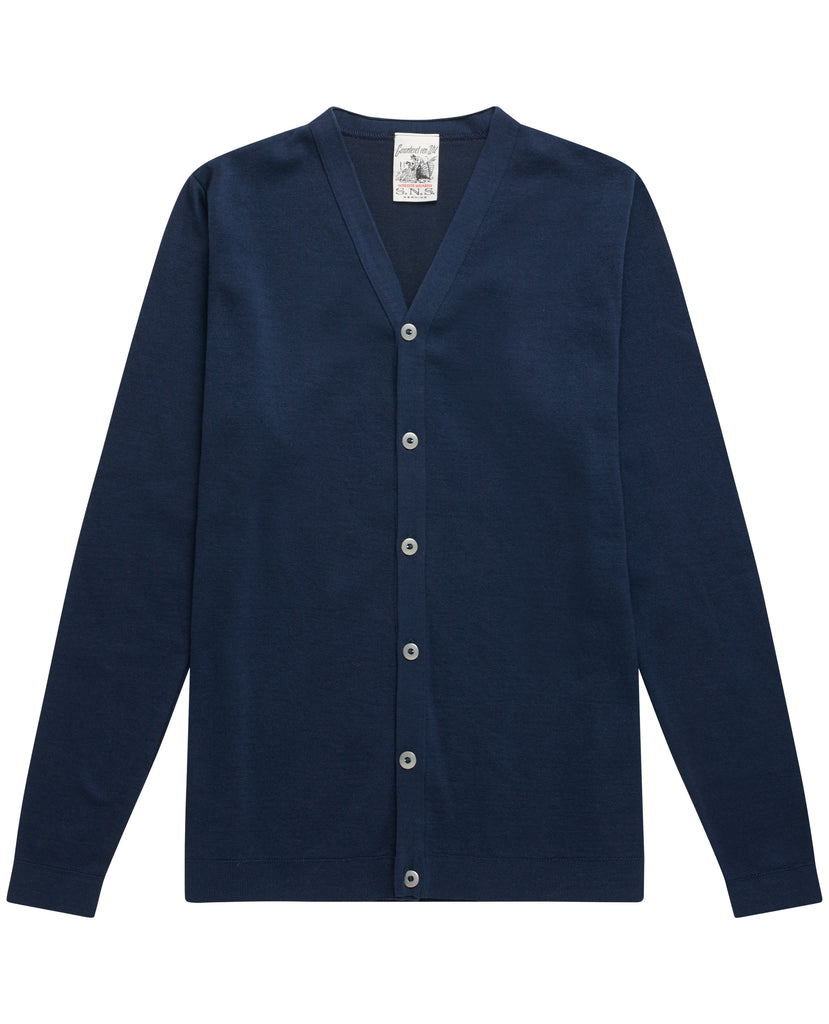 IMITATION cardigan <br>real blue