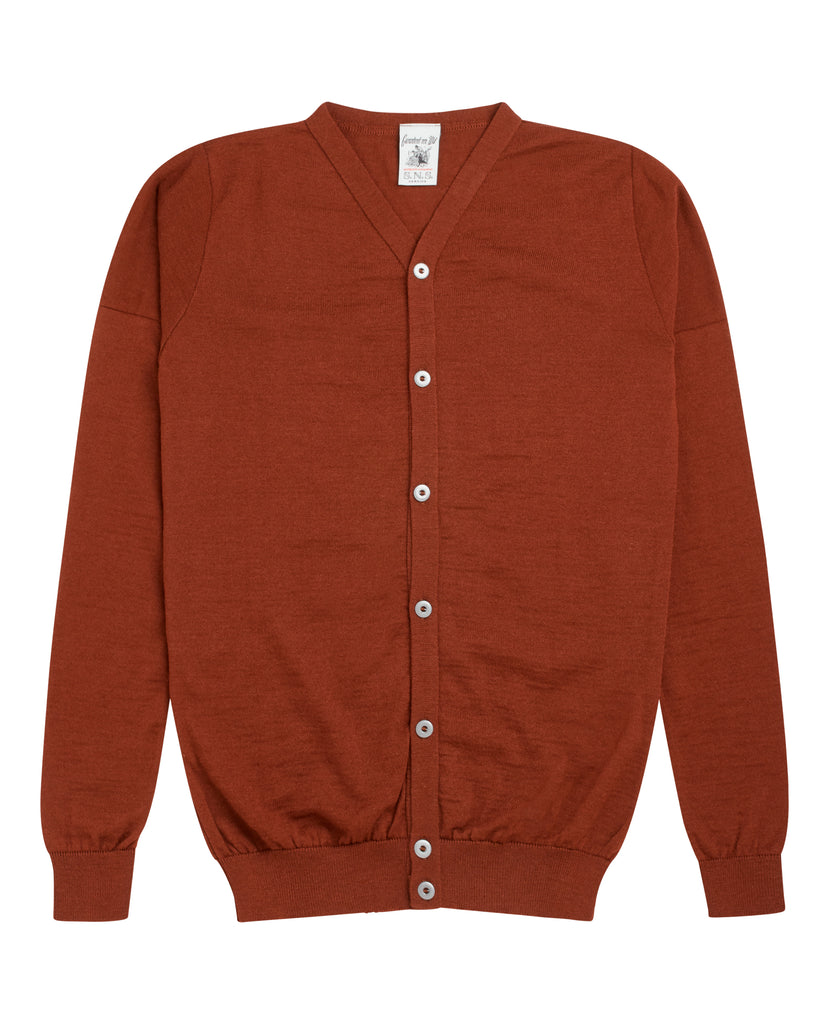 VERSION cardigan<br>maroon