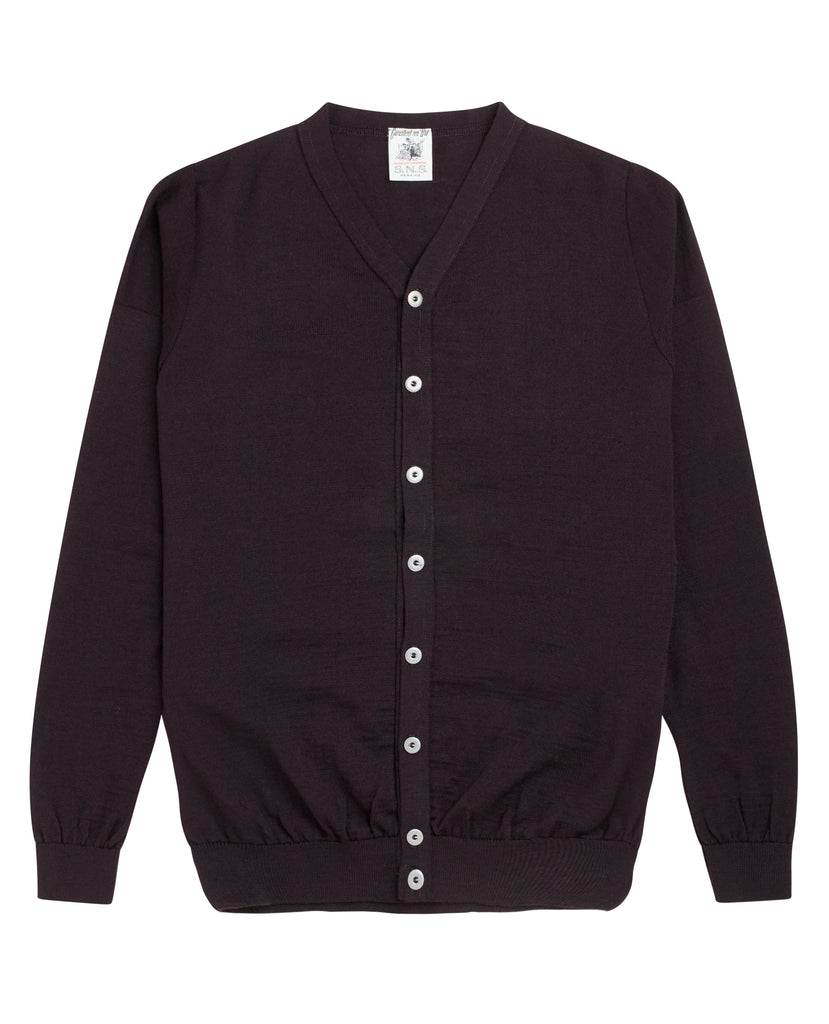 VERSION cardigan<br>dark purple