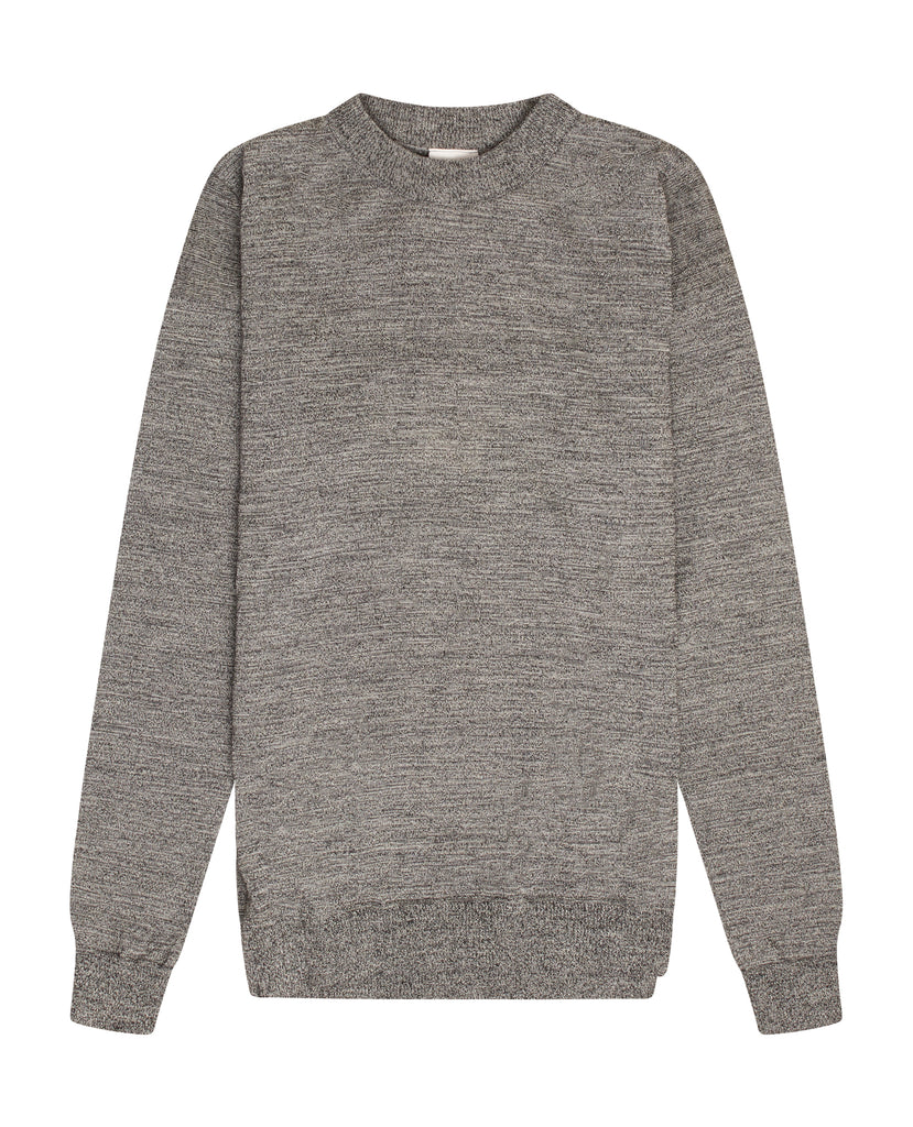 INTRO crew neck<br>white noise
