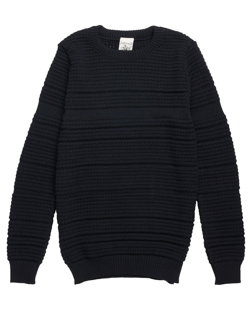 FLUX crew neck<br>black lake blend