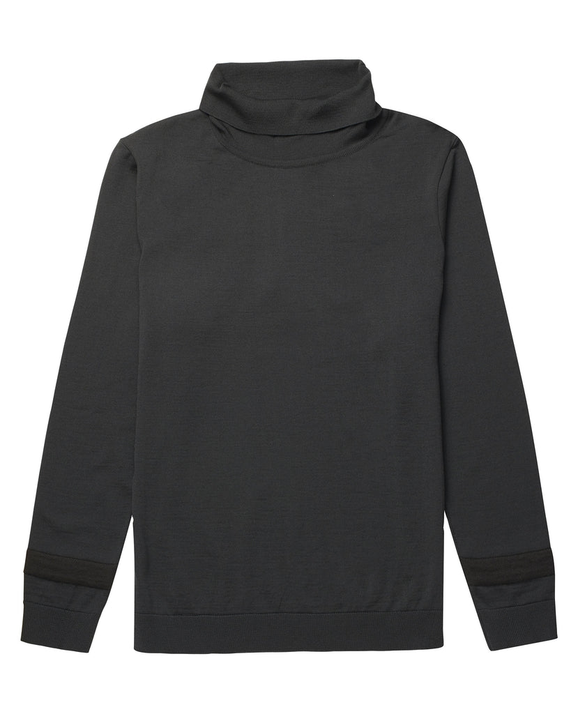 PLAN sweater | høj hals<br>lacquer green (M)