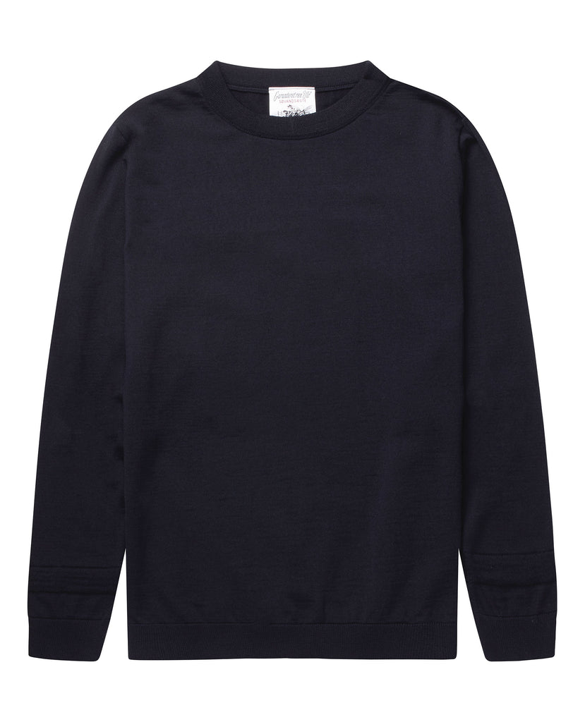 PLAN crew neck | rund hals<br>navy blue (M)
