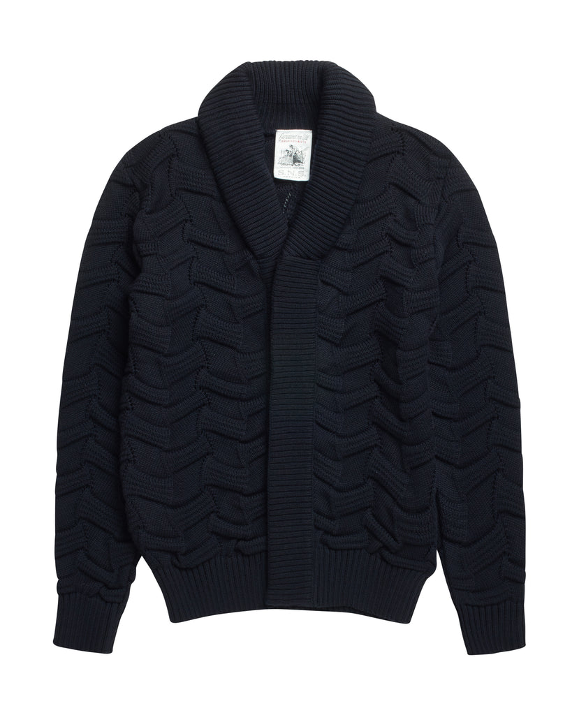DISPOSITION cardigan<br>navy blue [2]