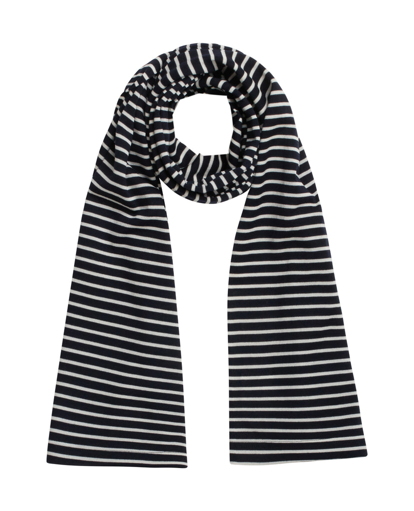 UNDER tubular scarf<br>Navy blue / off w [M]