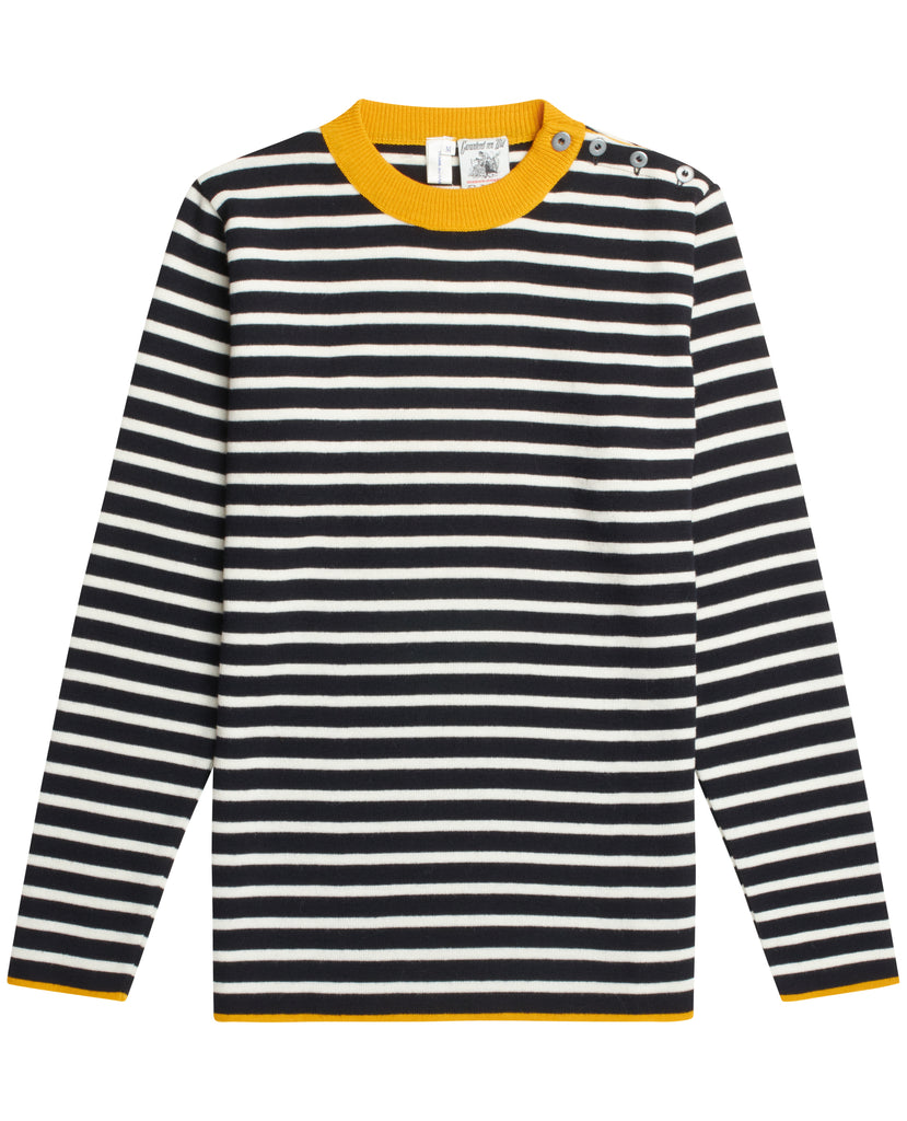 CDG x SNS NAVAL crew neck<br>navy blue / off white