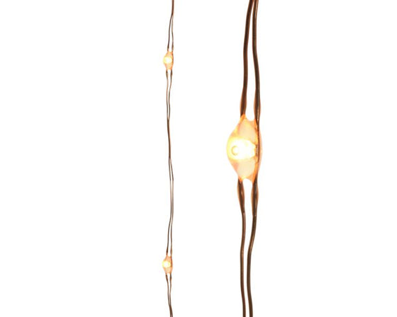 Indoor Micro Copper LED String Lights - 60 Lights - Copper/Classic Warm
