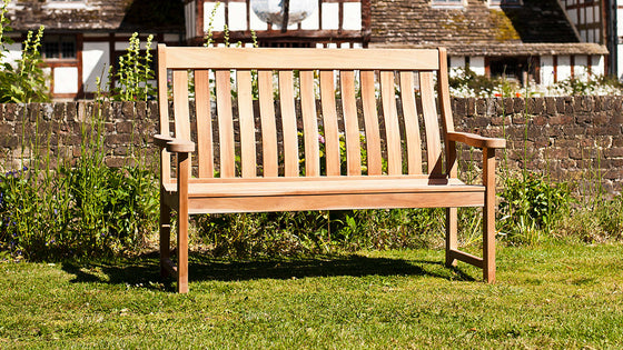 Alexander Rose Mahogany High Back 5ft Bench