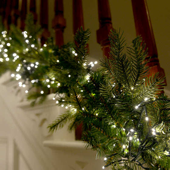 Cluster Christmas Lights with Warm White LED Lights