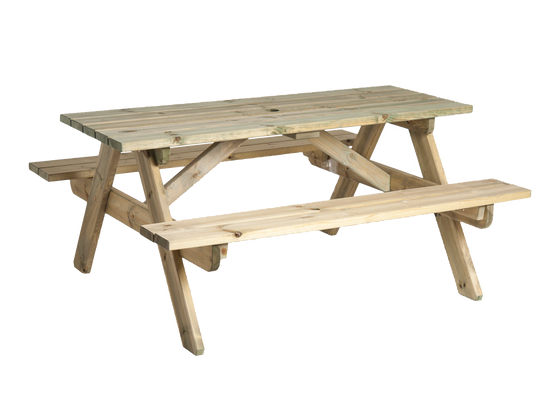 Heavy Duty Pine Picnic Table 6ft