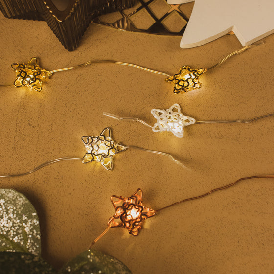 Metallic Star Micro Lights