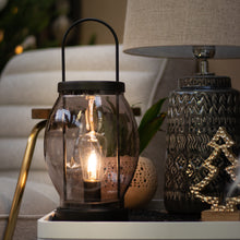 Battery Operated Glass Lantern - Warm White