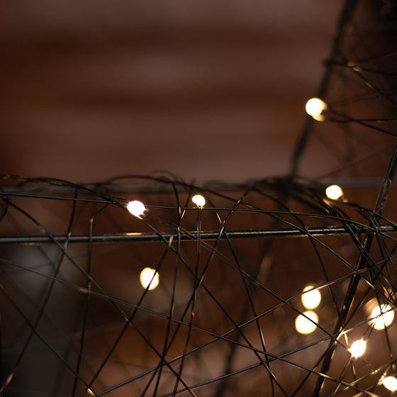 Big LED Wire Star - 80 Outdoor Warm White Lights