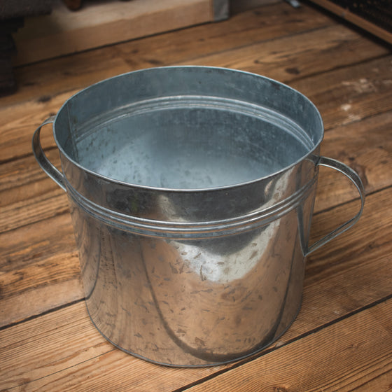 Zinc Ear Handled Pot 33cm