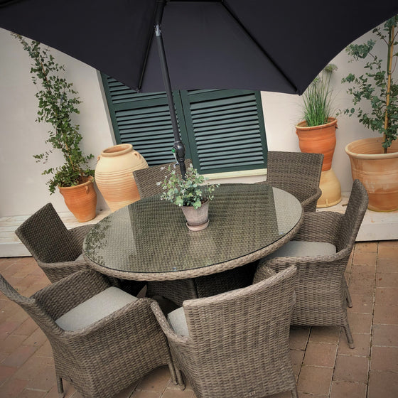 Leisuregrow Monaco 6 Seat Dining Set
