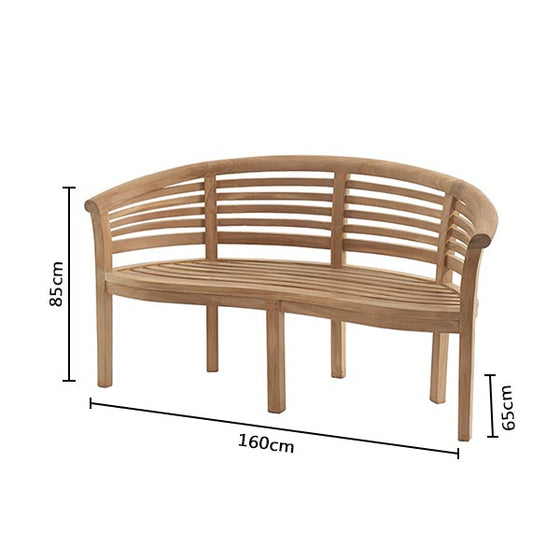 Bramblecrest Pimlico Banana Bench with Cushion
