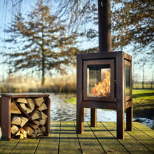 Quaruba XL 3 Sided Rusted Outdoor Heater