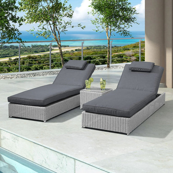 Nova Rhodes Sun Lounger Set of 2