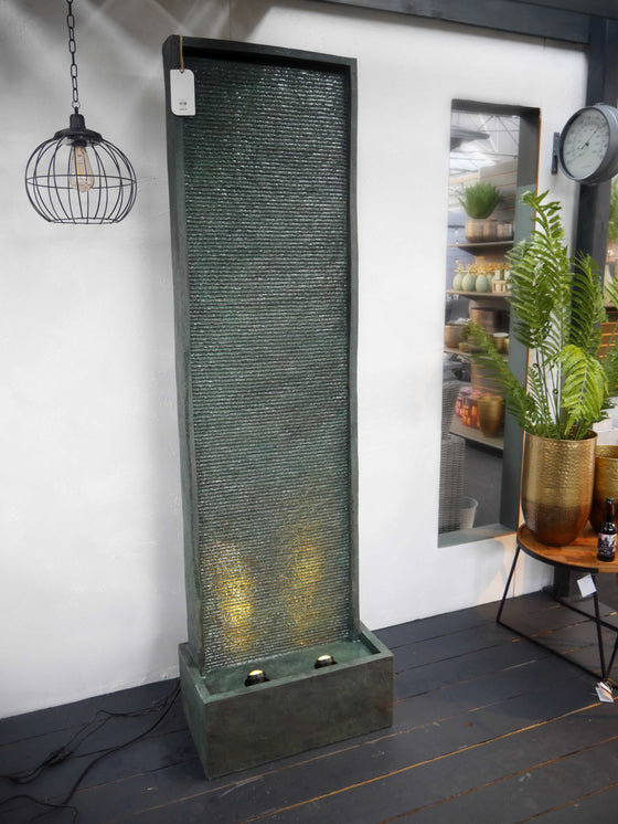 LED Tall Stone Wall Water Feature