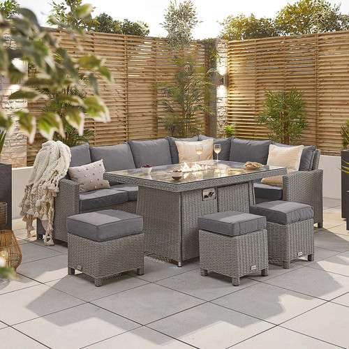 | Pre-Order | NOVA Heritage Ciara Corner Dining Set with Fire Pit Table
