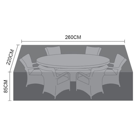 Nova – Cover for Large 6 seat oval dining set