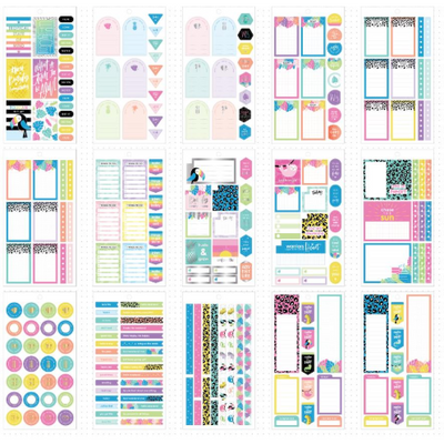 Set Stickers Happy Planner Pasteles Tropicales Happy Planner