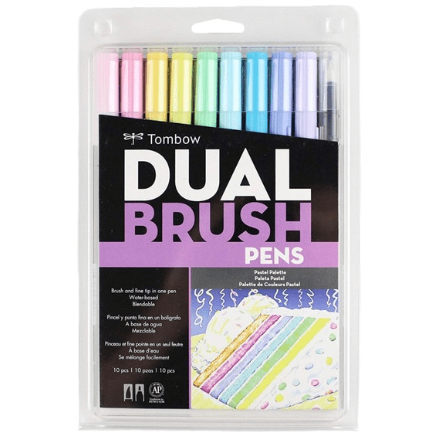 Tombow Dual Brush - Set 10 Marcadores Colores Pastel