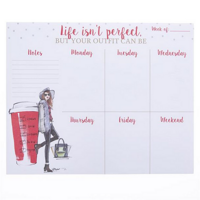 Planificador Semanal - Life Isn´t Perfect Graphique