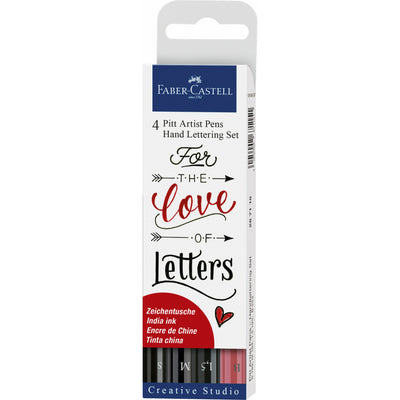 Set 4 Lápices Lettering Colores Love