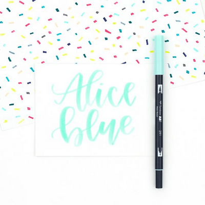 Tombow Plumón Doble Punta Alice Blue