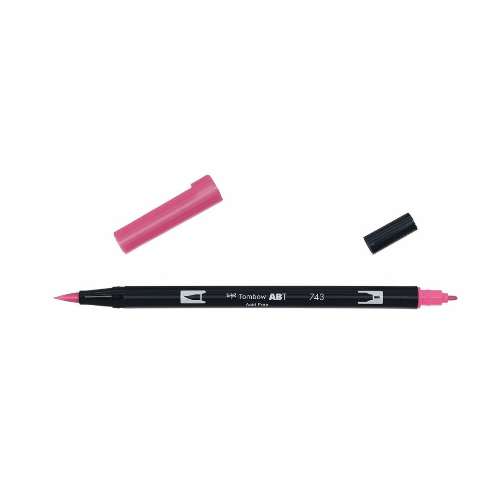 Tombow Plumón Doble Punta Hot Pink - La Papelaria