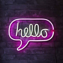 Load image into Gallery viewer, Lustroslights™ 'Hello' Sign