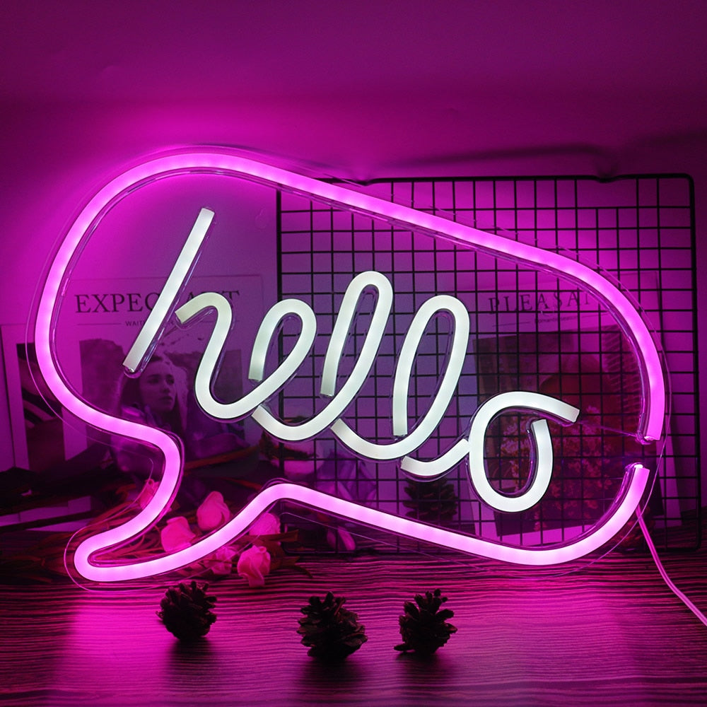 Lustroslights™ 'Hello' Sign