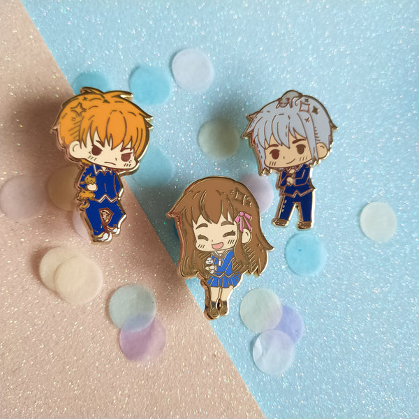 Fruits basket trio Enamel pins