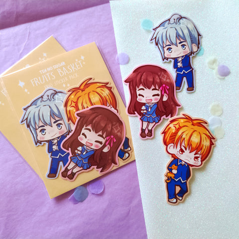 Fruits basket sticker set