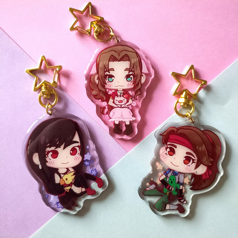 Final fantasy 7 gals charms