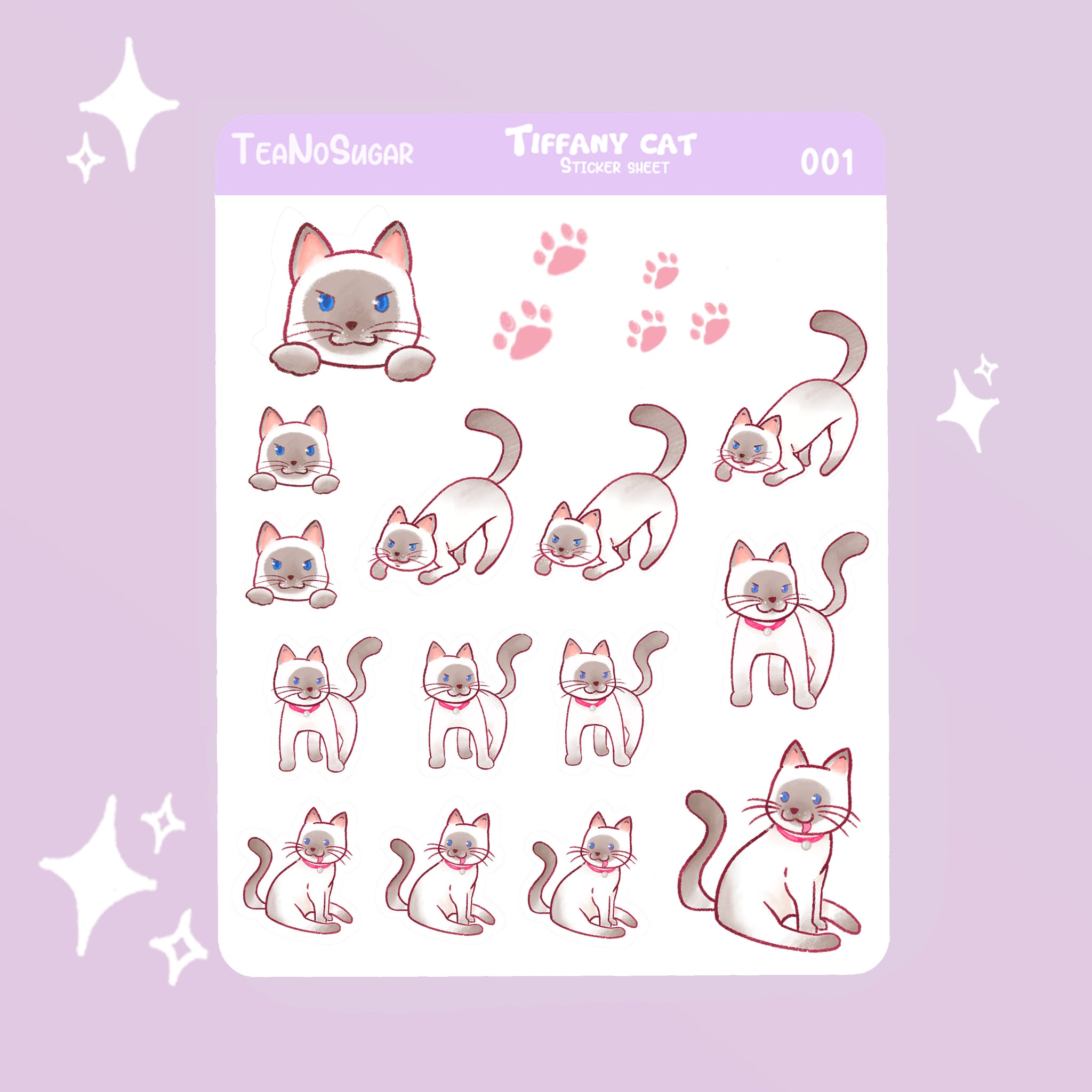 Tiffany cat stickers