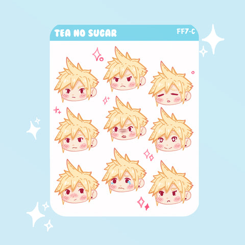 FF7R Cloud emoji stickers