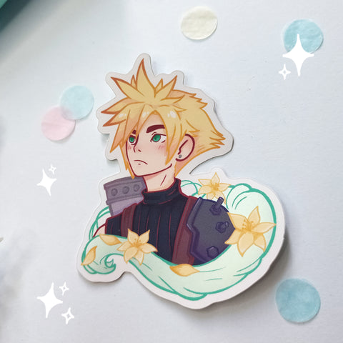 Cloud strife vinyl sticker