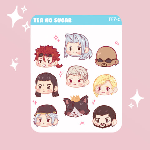 FF7R Shinra stickers