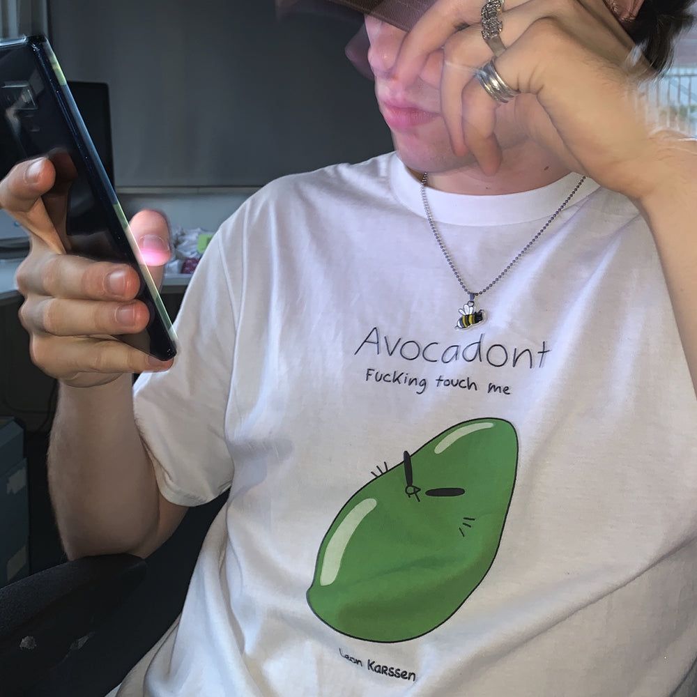 avocadont tee white
