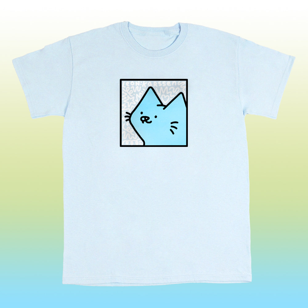boxcat scribble tee light blue