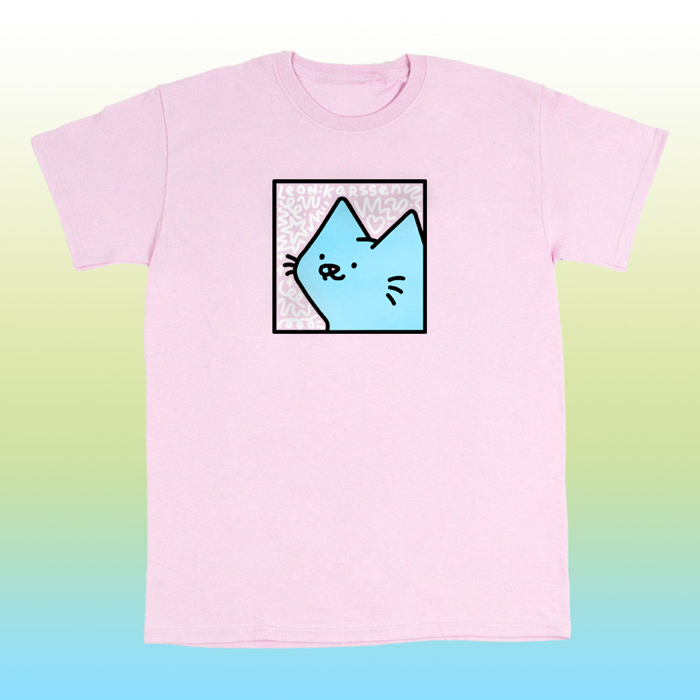 boxcat scribble tee light pink
